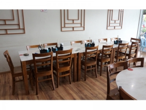 Teak Furniture Malaysia indoor dining tables koorg marbletop table