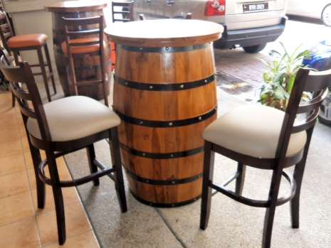Teak Furniture Malaysia bar tables healy barrel table d80