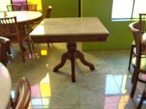 louis marbletop table