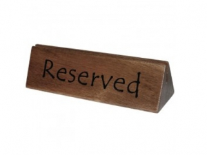 table reserved marker