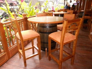 Teak Furniture Malaysia bar tables healy barrel