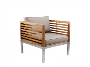 Teak Furniture Malaysia outdoor sofa accura sofa single seater