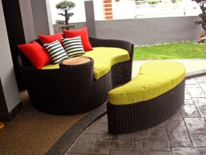 Teak Furniture Malaysia outdoor sofa bali daybed