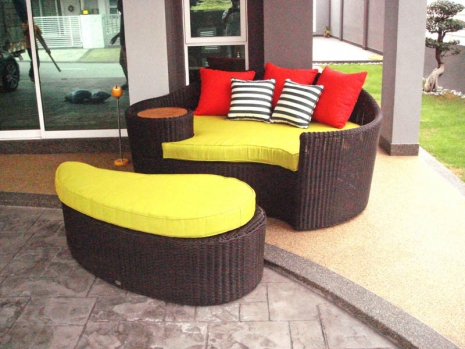 Teak Furniture Malaysia outdoor sofa bali day bed
