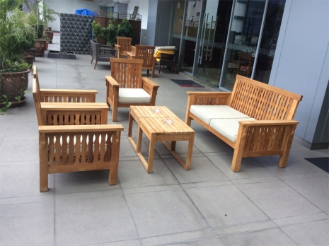 Teak Furniture Malaysia outdoor sofa maldives sofa 3 seater