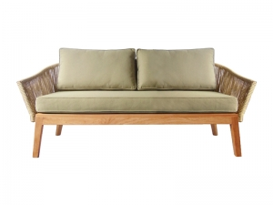 Teak Furniture Malaysia outdoor sofa nusa 2 seater sofa