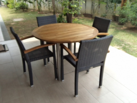 Teak Furniture Malaysia outdoor tables accura round table d100