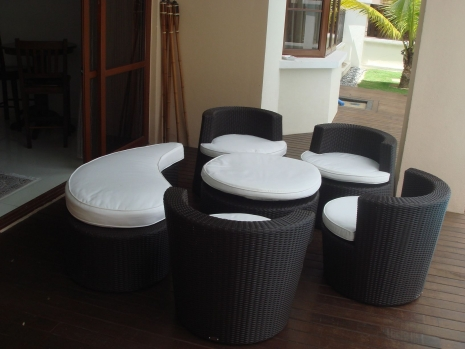 Teak Furniture Malaysia terrace sets latte set (chair)